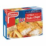 FINDUS 4 BATTERED FILLET FISH & CHIPS